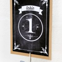 Free Printable Chalkboard Table Numbers