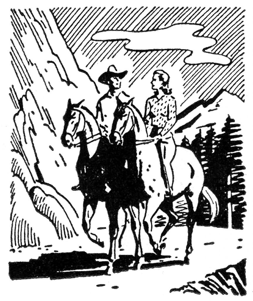 Retro Images Riding Horses