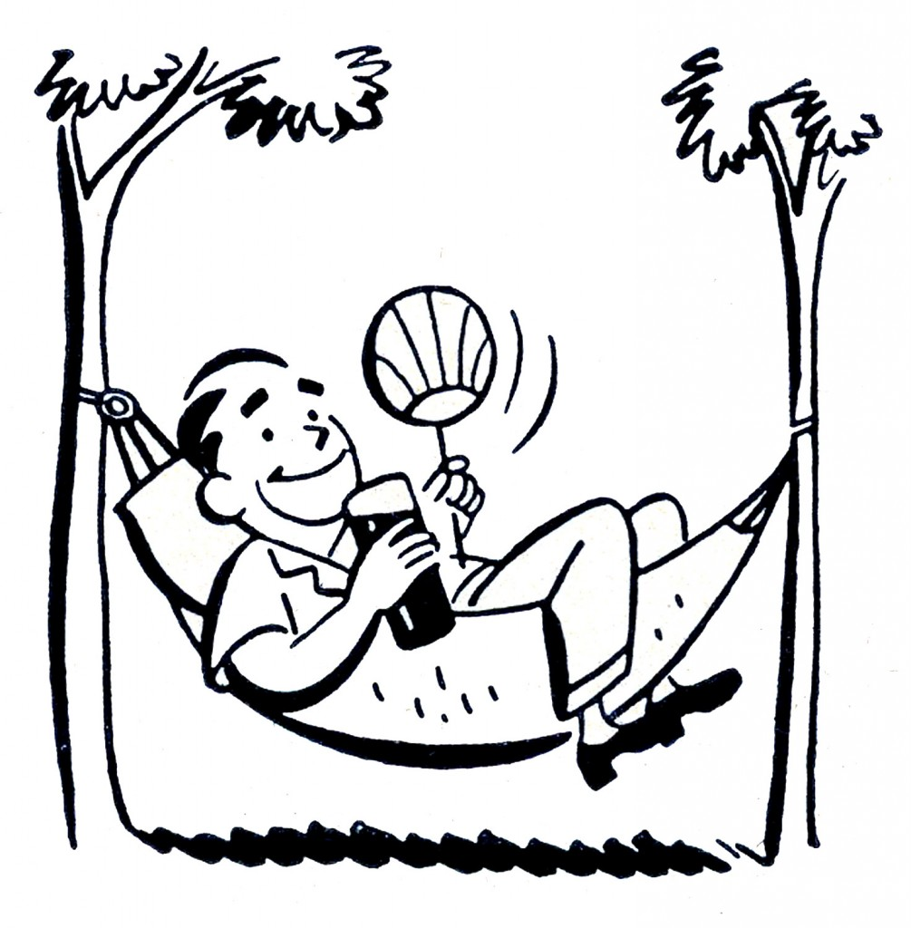 Retro Father's Day Images Hammock Dad