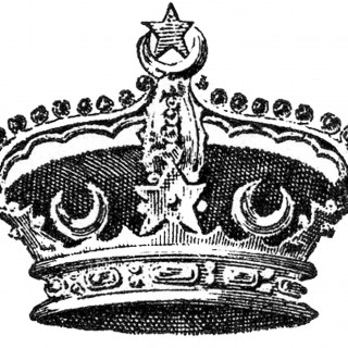 Vintage Crown Image – Moons and Stars