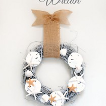 Pottery Barn Inspired Seashell Wreath