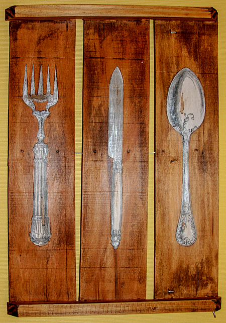 Silverware Kitchen Art Project