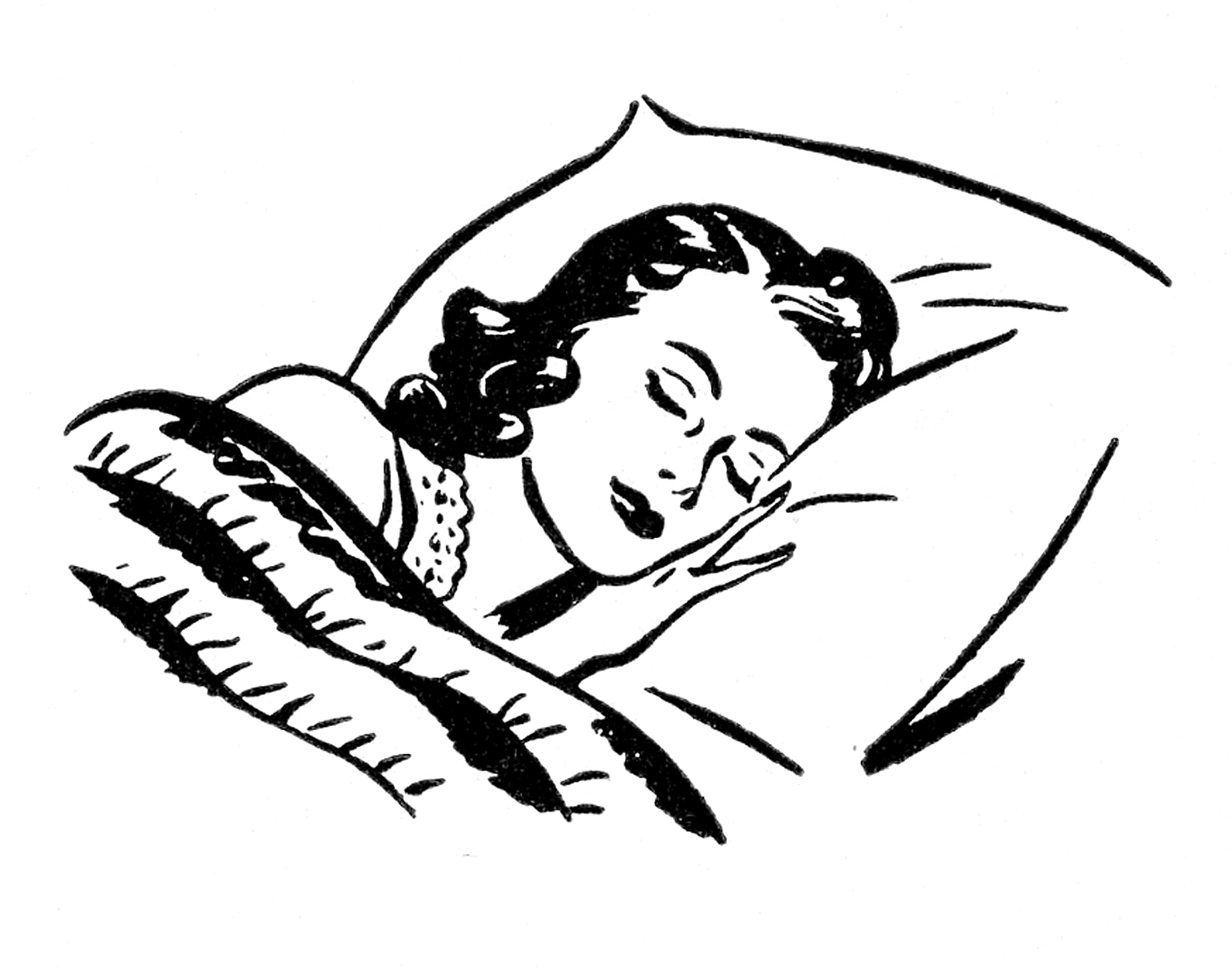 http://thegraphicsfairy.com/wp-content/uploads/2013/06/Sleeping-Lady-Retro-Image-GraphicsFairy.jpg