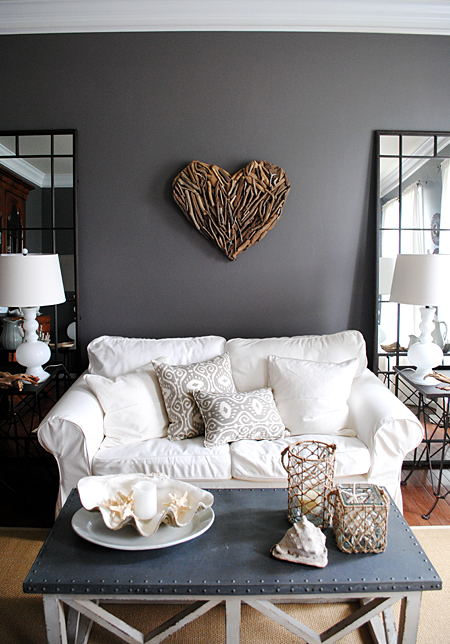 A summer tour of our home the graphics fairy - Home decorating ideas living room walls ...