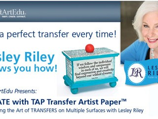 Lesley Riley – TAP Giveaway and Blog Hop