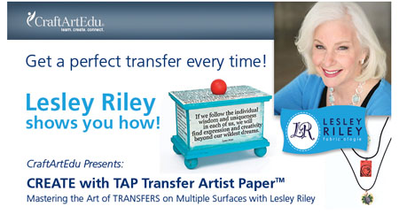 Lesley Riley Tap Transfer Paper