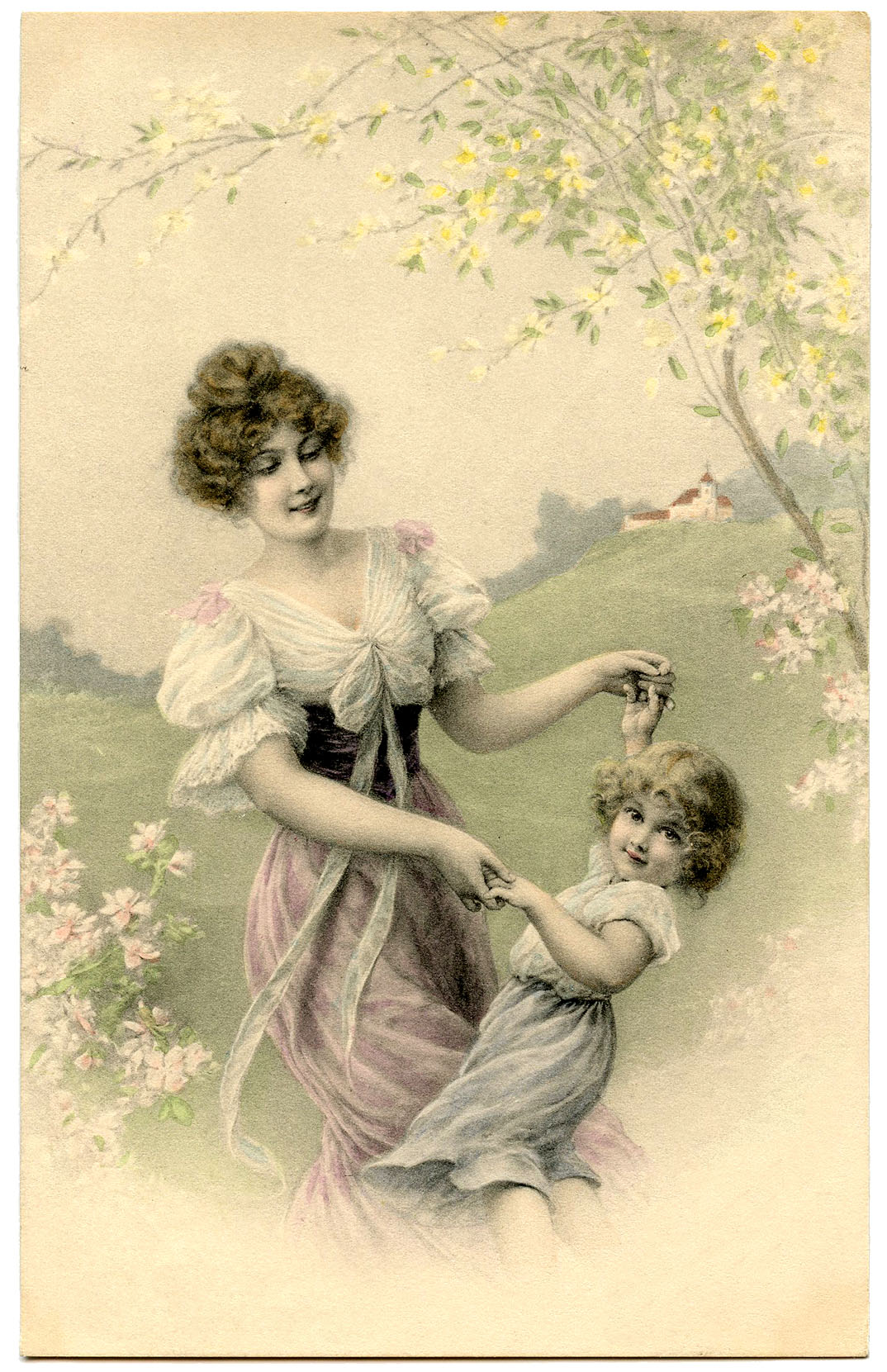 Vintage Mother and Child Image