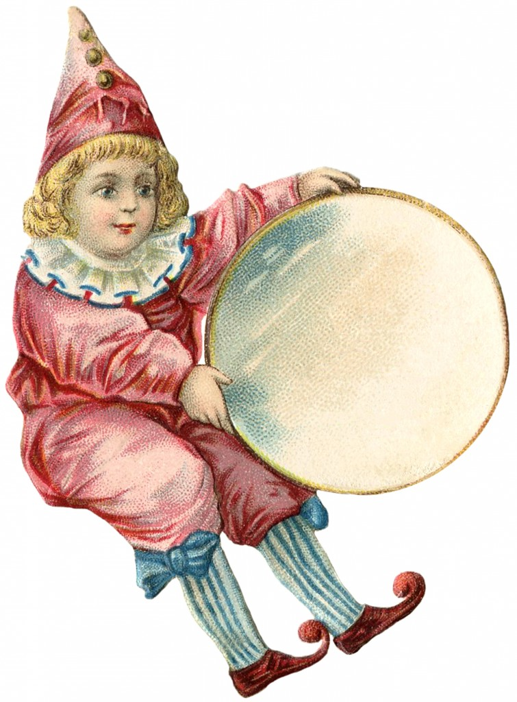 Antique Clown Girl Image