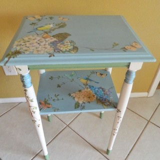 DIY Birds and Butterflies Painted Table – Reader Featured Project