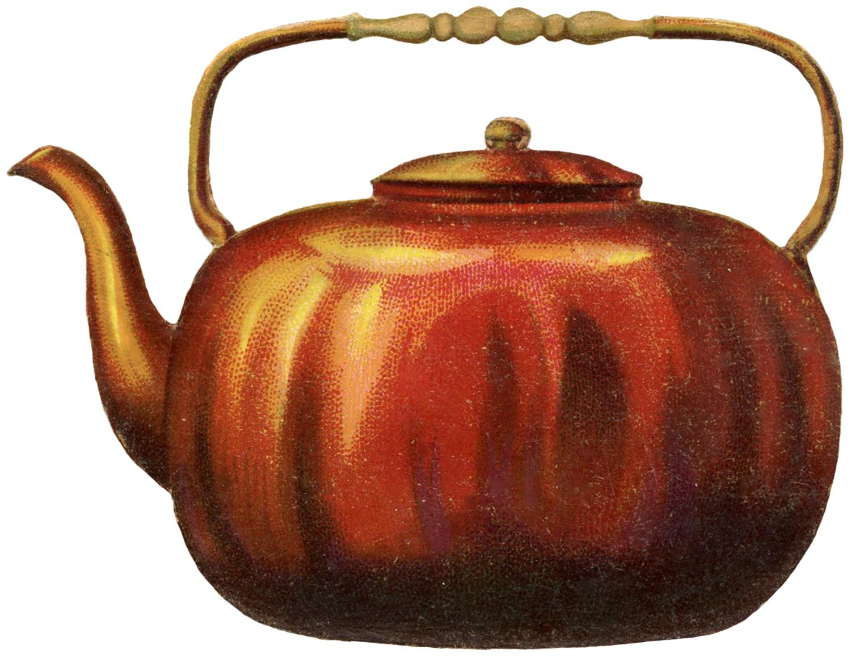 Vintage Copper Teapot Image