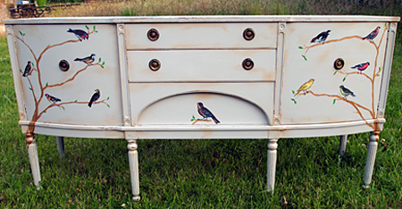 DIY Sideboard With Birds