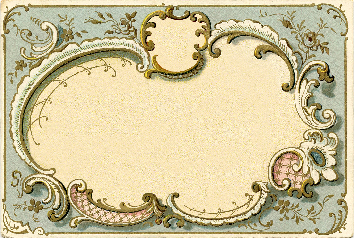 Spectacular French Graphic Frame Image  The Graphics Fairy