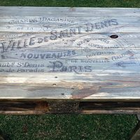 French-Pallet-Wood-Table