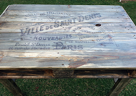 DIY Repurposed Pallet Table