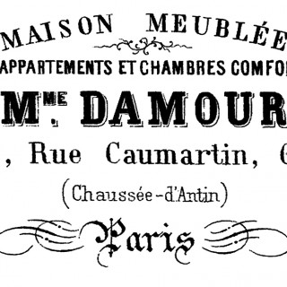 French Typography – Paris Apartment Sign