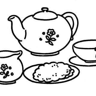 Line Art Tea Set