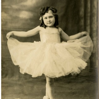 Old Photo Ballerina Girl