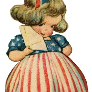 Cute Patriotic Girl Image