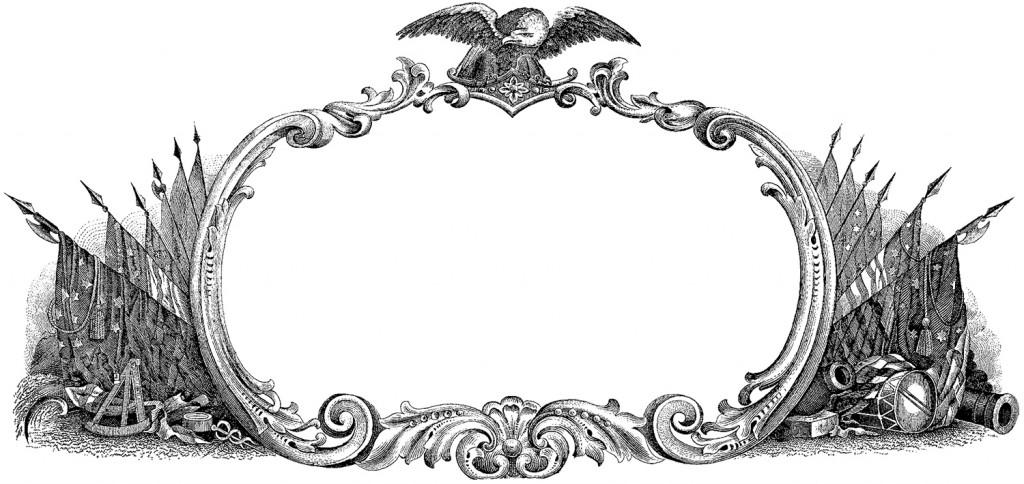 Public Domain Patriotic Label - The Graphics Fairy