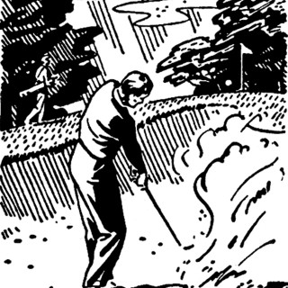 Retro Golf Images – Black and White Clip Art