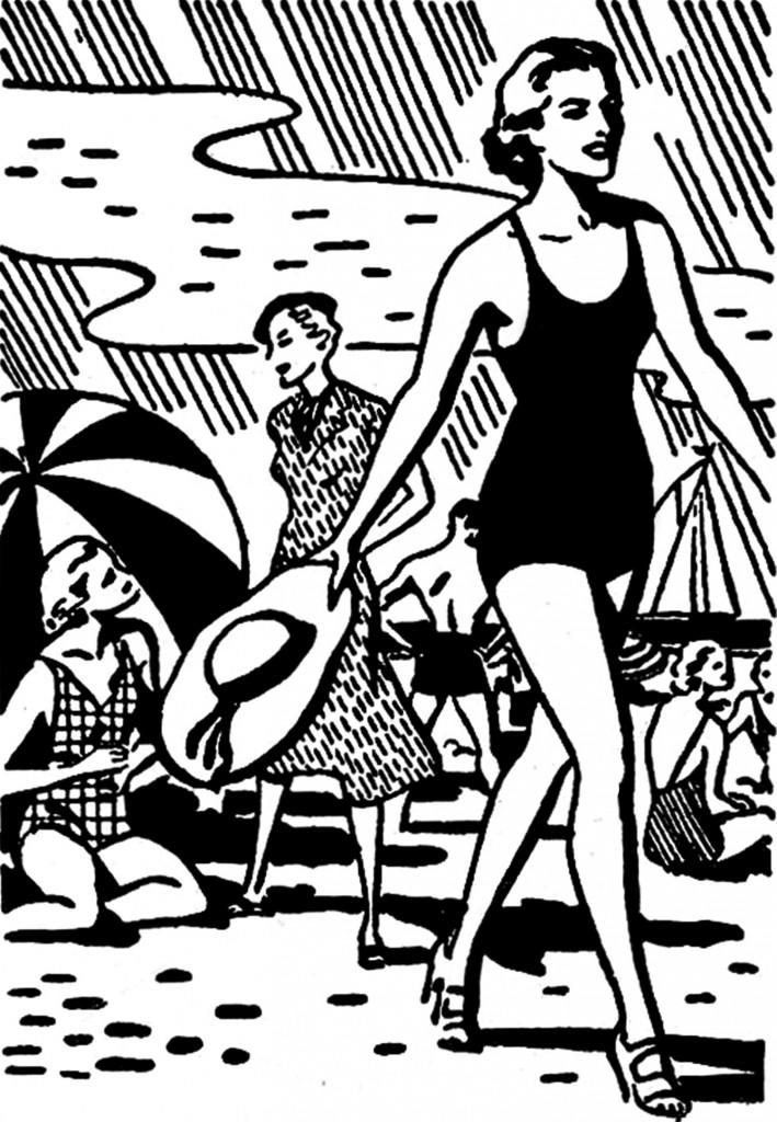 Retro Summer Images Beach