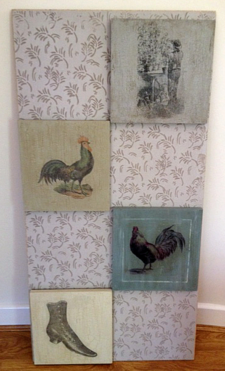 DIY Transfer Art Wall Plaques