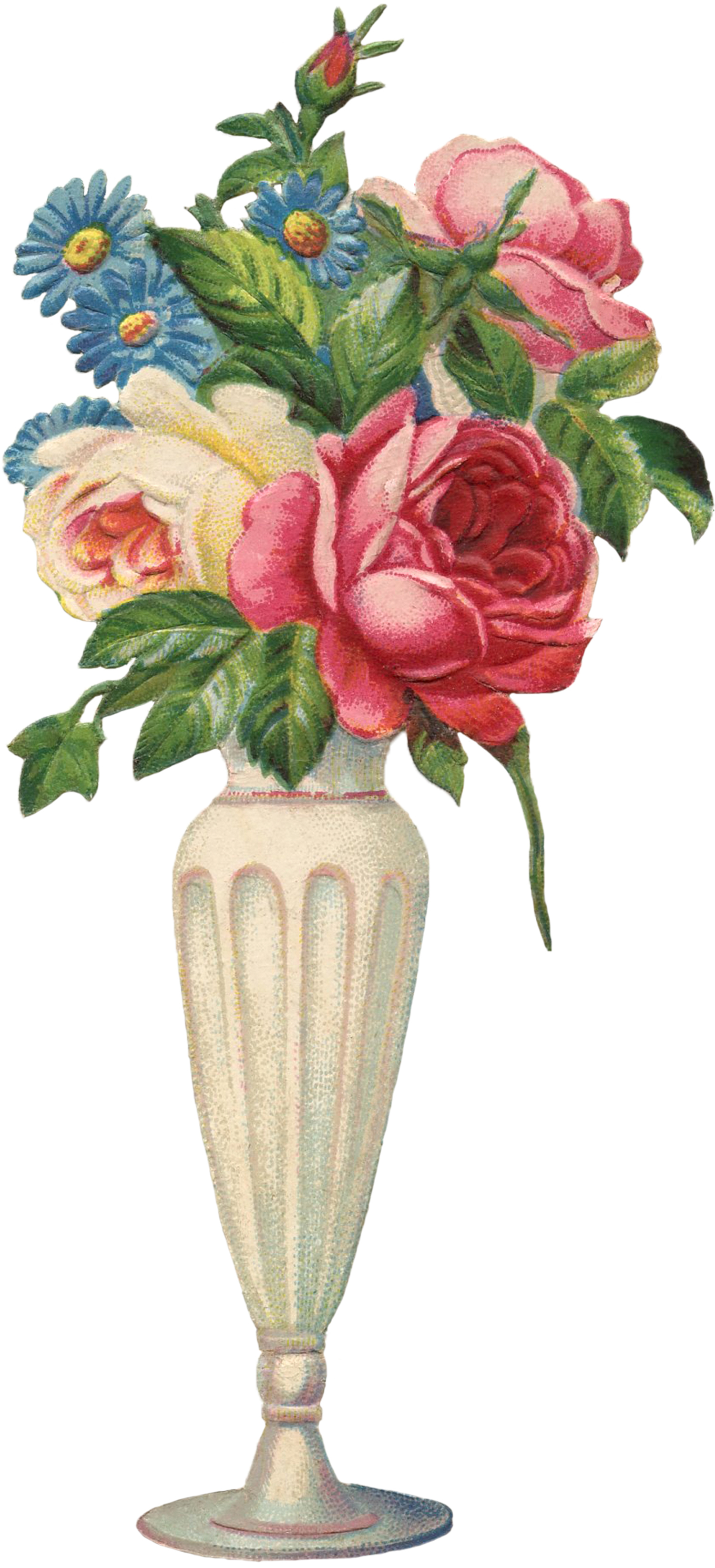 Vintage flowers vase image the graphics fairy vintage flowers vase image mightylinksfo