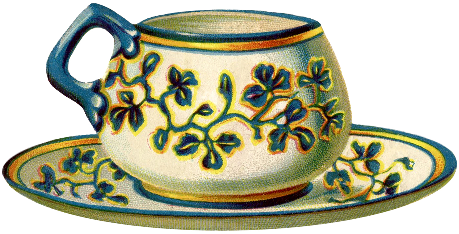 22 Pretty Teacups - Roses and more! - The Graphics Fairy