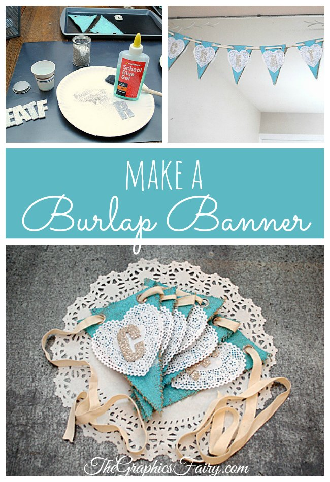Make a Burlap Banner - The Graphics Fairy