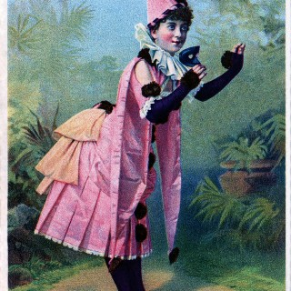 Antique Image – Masquerade Girl