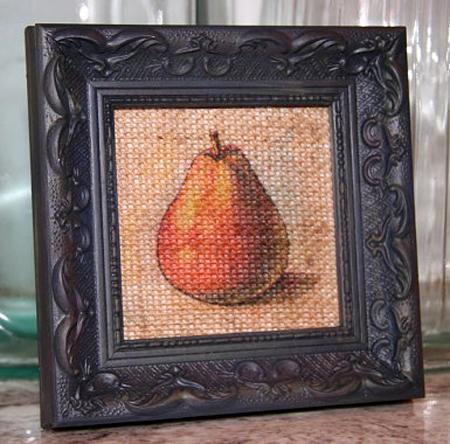Burlap Pear Art