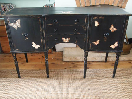 DIY Butterfly Sideboard