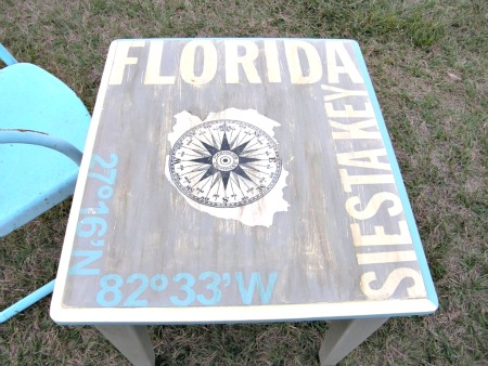 DIY Mariners Compass Table