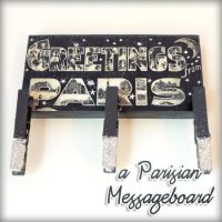 DIY Parisian Message Board