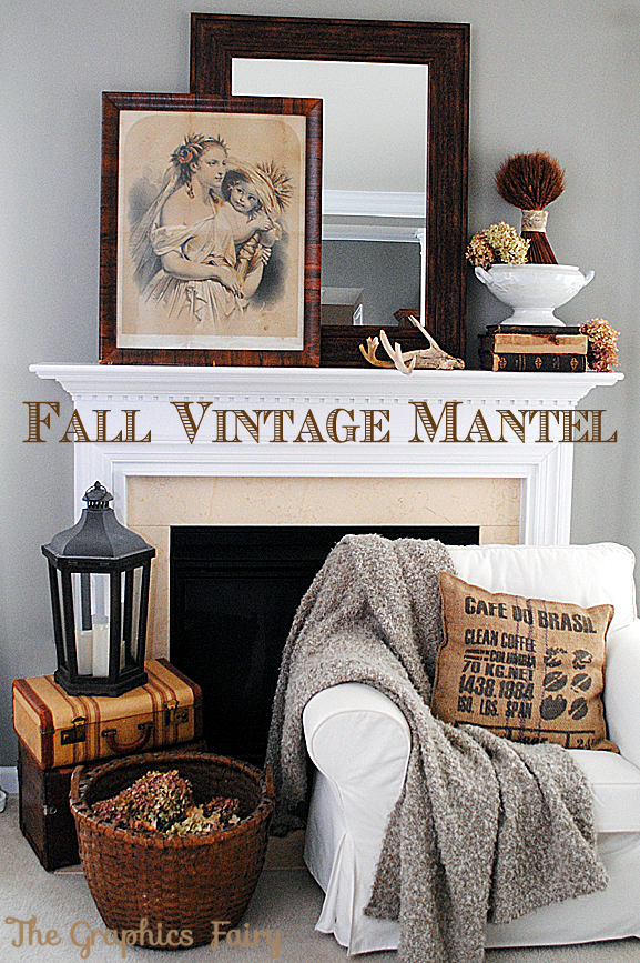 Fall Mantel Ideas Vintage
