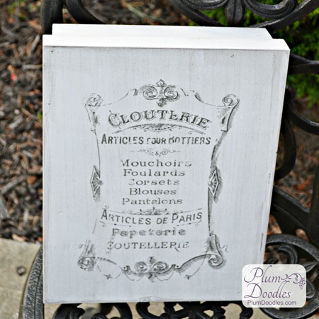 DIY French Graphic Clouterie Box