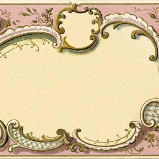 Stunning French Graphic Frame Image – Pink