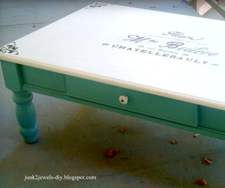 French Transfer Coffee Table