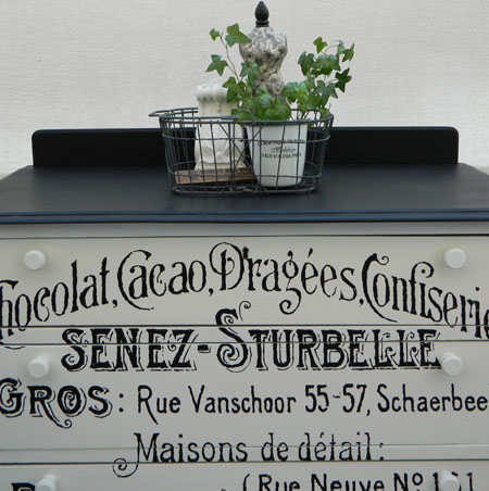 Painted Dresser With French Ephemera - Chocolat - Reader Featured Project