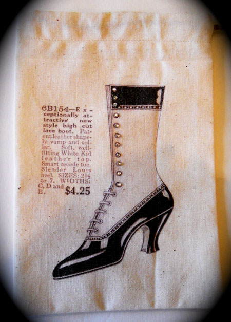 Handmade Bag With Shoe Graphic