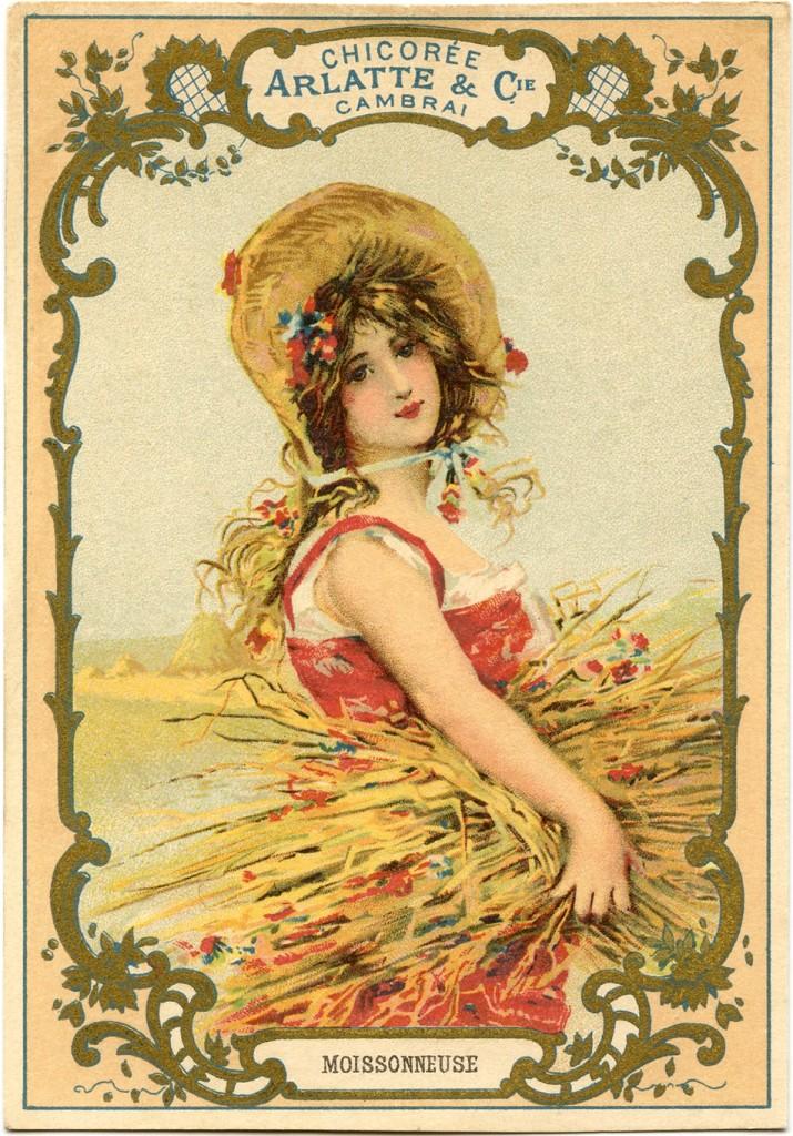 Autumn Harvest Woman Image