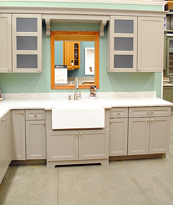 Gray Kitchen Cabinets Home Depot