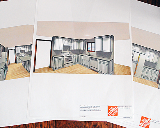 Our Kitchen Renovation With Home Depot! - The Graphics Fairy