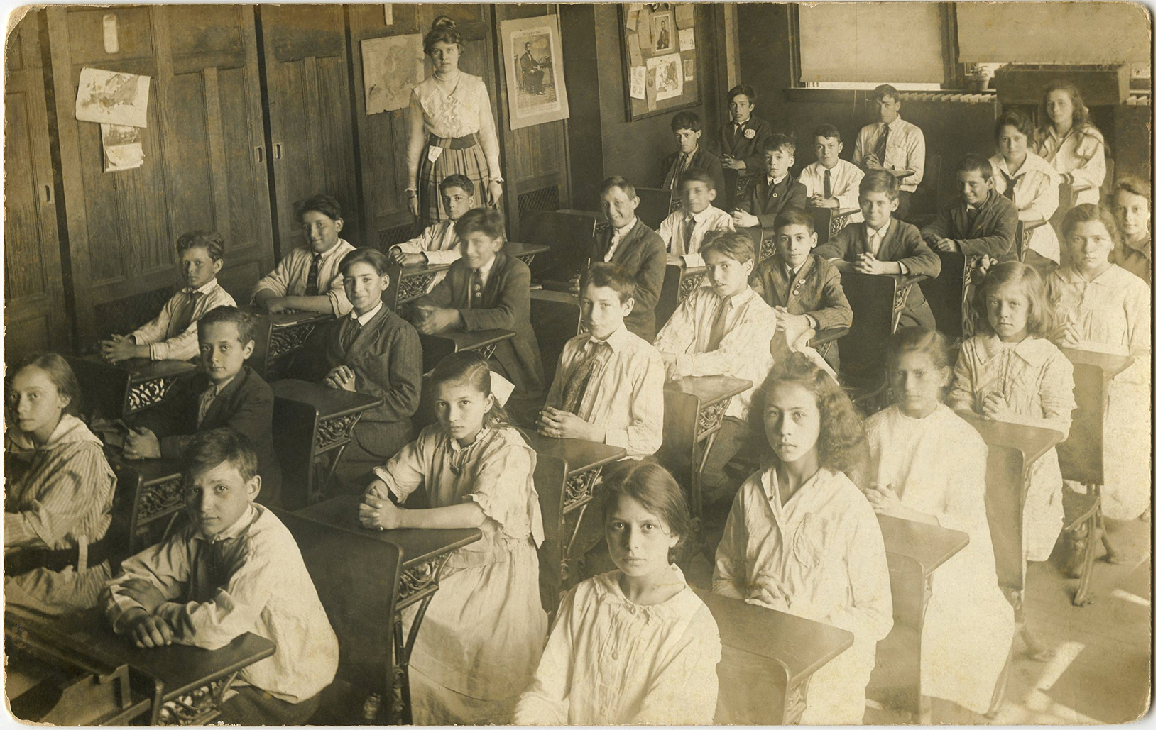 Old Photo Back to School Children