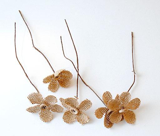 Burlap Flowers David Tutera