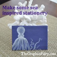 Seaside Printable Stationery