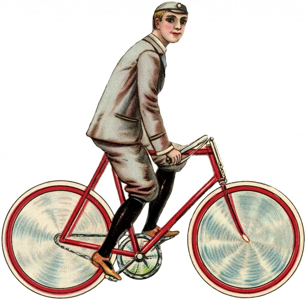 Vintage Bicycle Boy Image