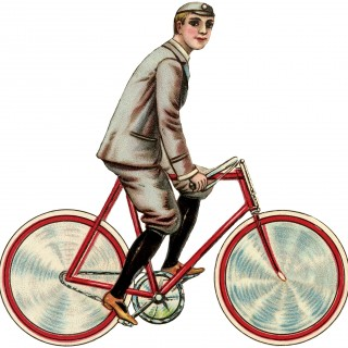 Vintage Bicycle Boy