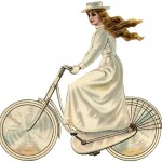 Vintage Bicycle Girl Edwardian