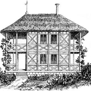 Vintage Cottage Image Thatched Roof
